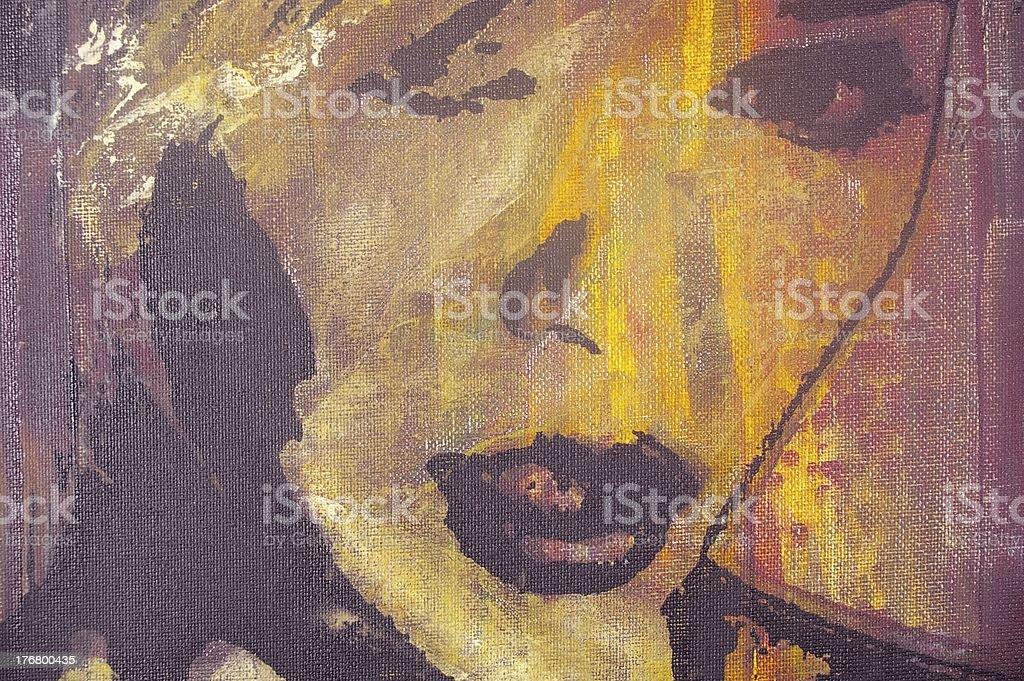 original oil painting royalty-free stock vector art