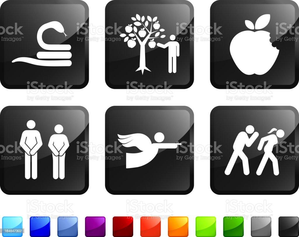 original sin royalty free vector icon set stickers royalty-free stock vector art