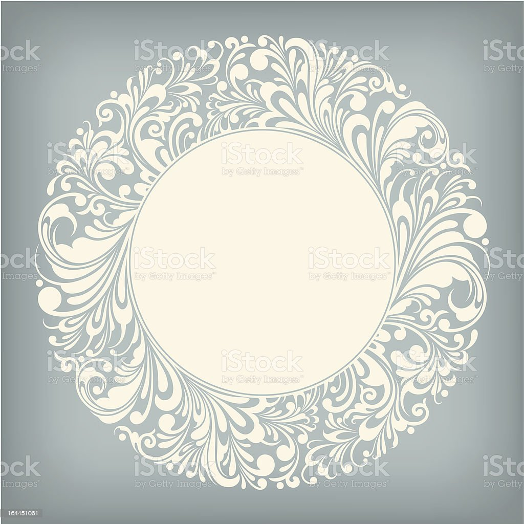 Ornament Circle Label royalty-free stock vector art