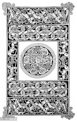 Illustration of a Ornament from an Irish culture