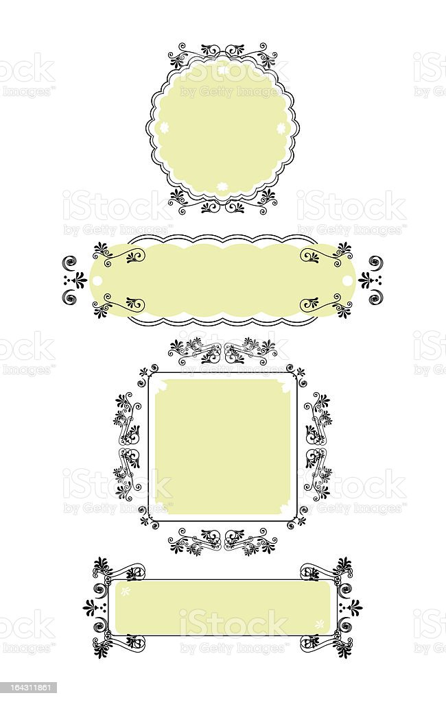 Ornamental Frames Set B royalty-free ornamental frames set b stock vector art & more images of backgrounds
