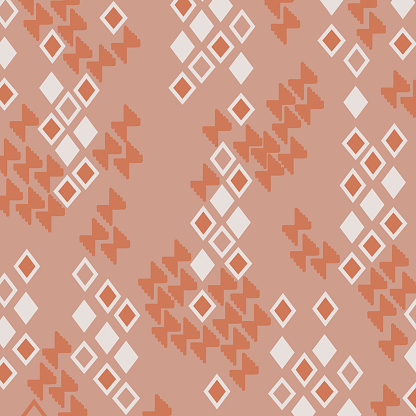 Ornamental pattern with retro colors.
