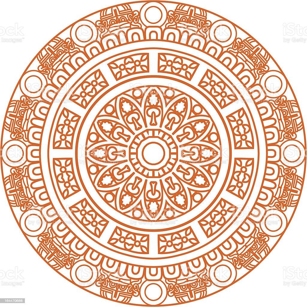 Ornamental round pattern vector art illustration