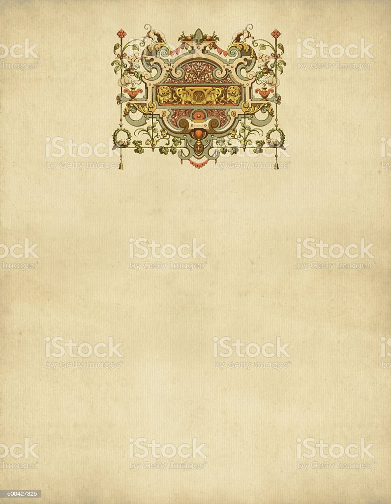 Ornaments France 16th Century royalty-free stock vector art