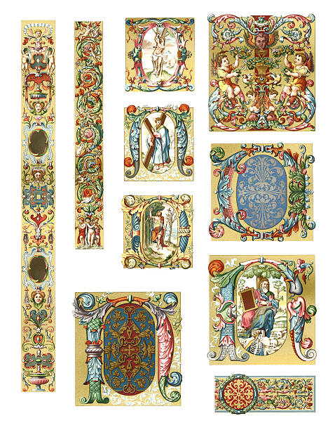 illustrazioni stock, clip art, cartoni animati e icone di tendenza di ornamenti italia del xvi secolo. - firenze