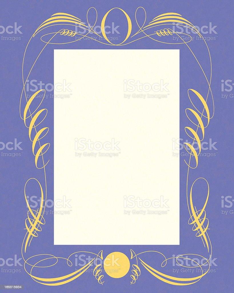Ornate Blue Frame royalty-free stock vector art