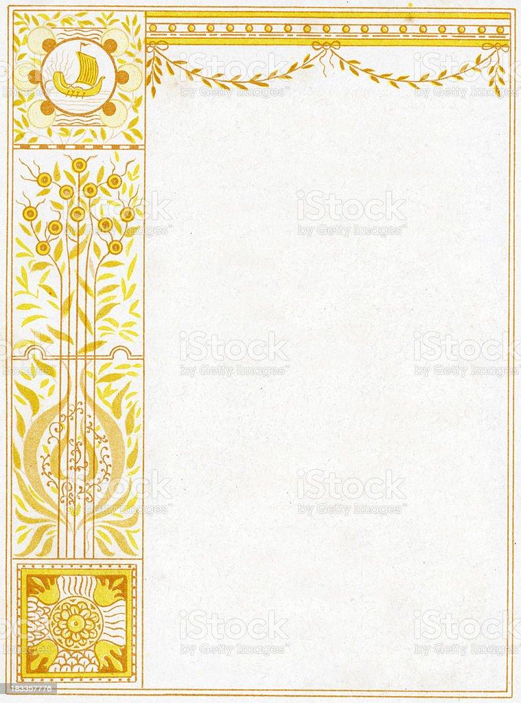 Ornate border vector art illustration