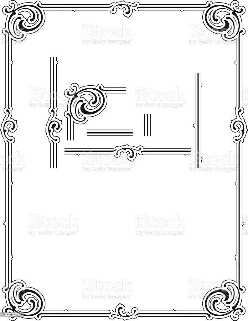 Ornate Border/Certificate Design royalty-free stock vector art