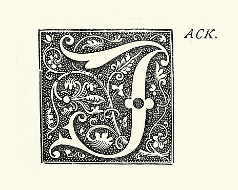 Ornate capital letter J, Jack