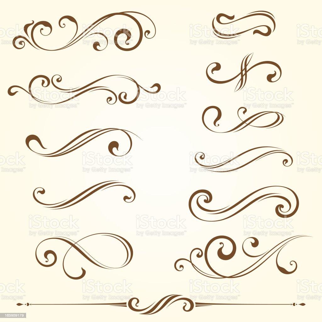 Ornate Elements vector art illustration