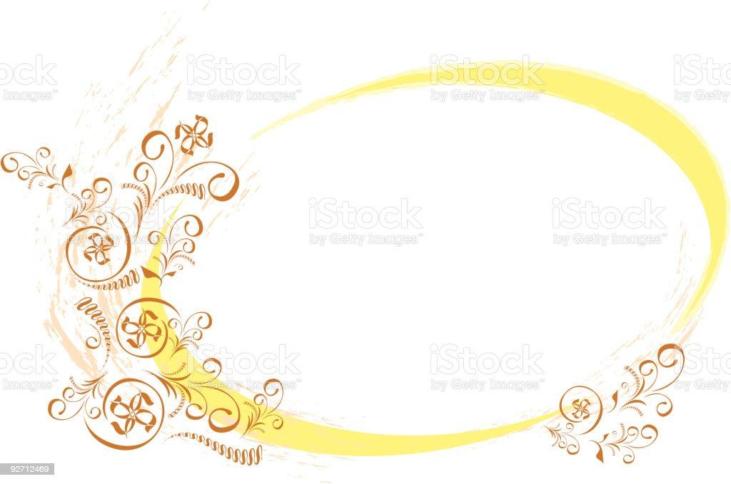 Ornate Ellipse Frame royalty-free stock vector art