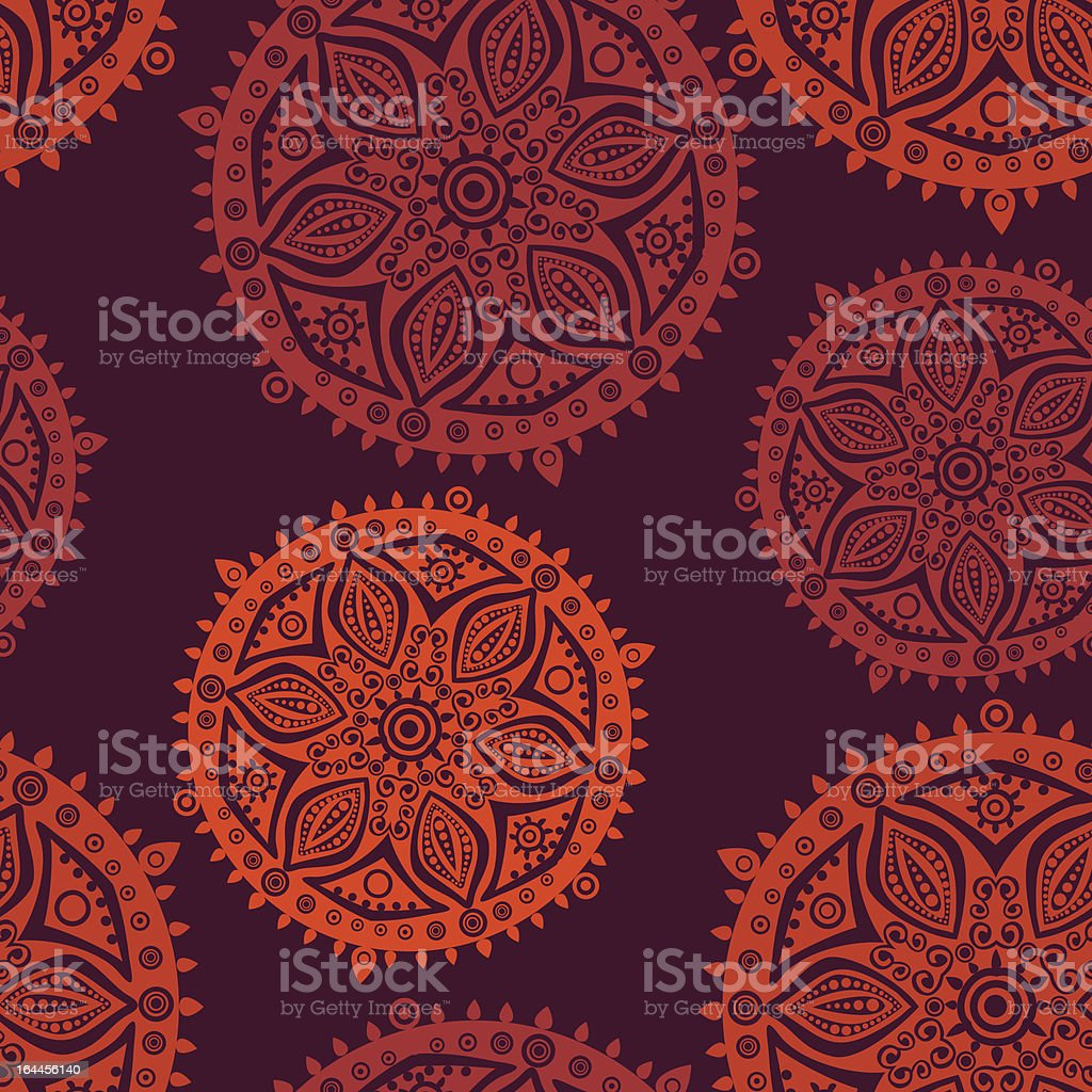 ornate flowers seamless texture,endless pattern royalty-free stock vector art