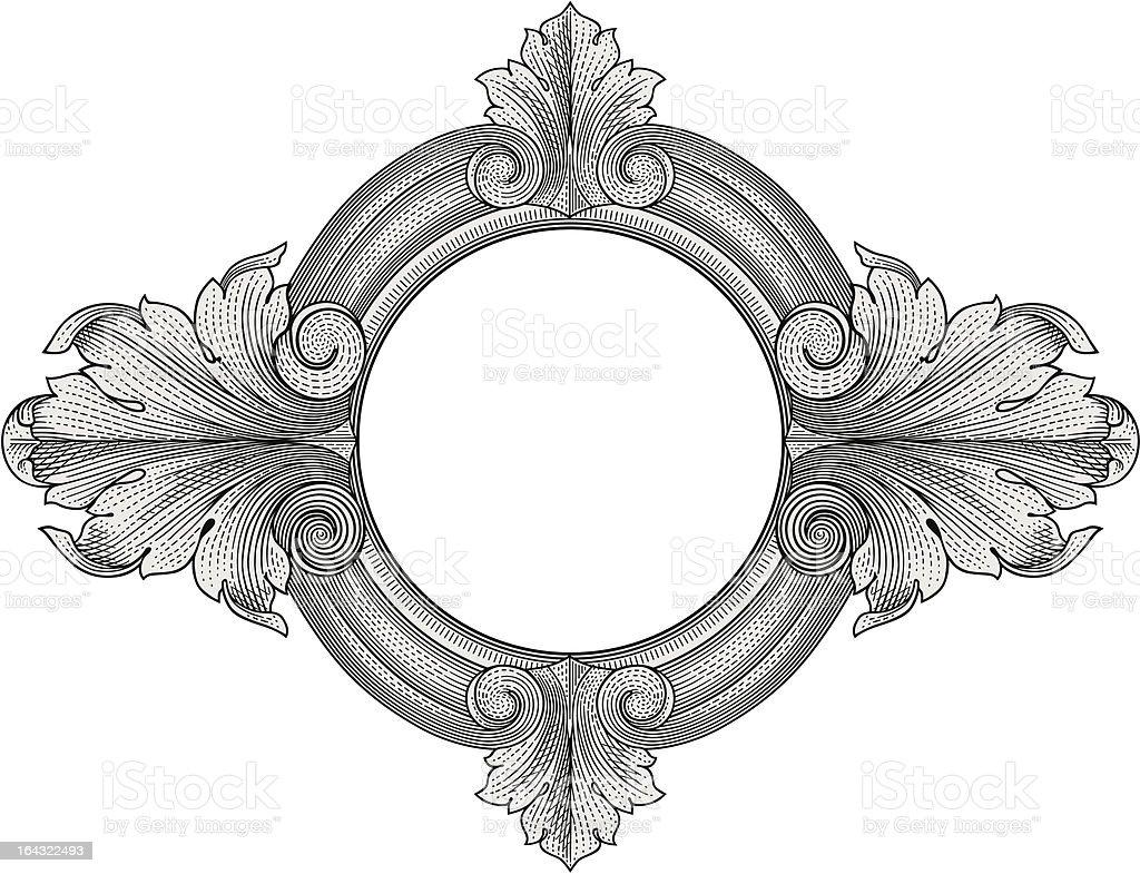 Ornate frame vector royalty-free stock vector art