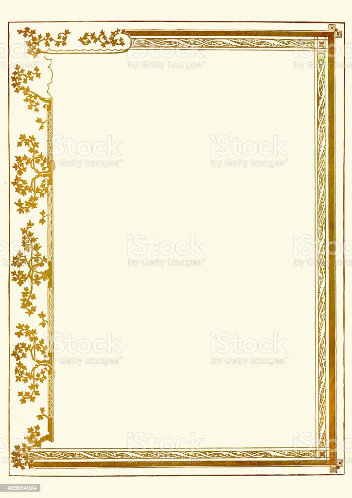 Ornate gold certificate border stock vector art 469634504 istock ornate gold certificate border royalty free stock vector art yadclub Choice Image
