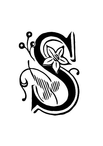 Ornate letter S