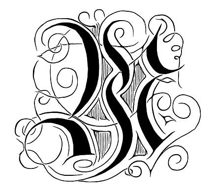 Ornate Letter W