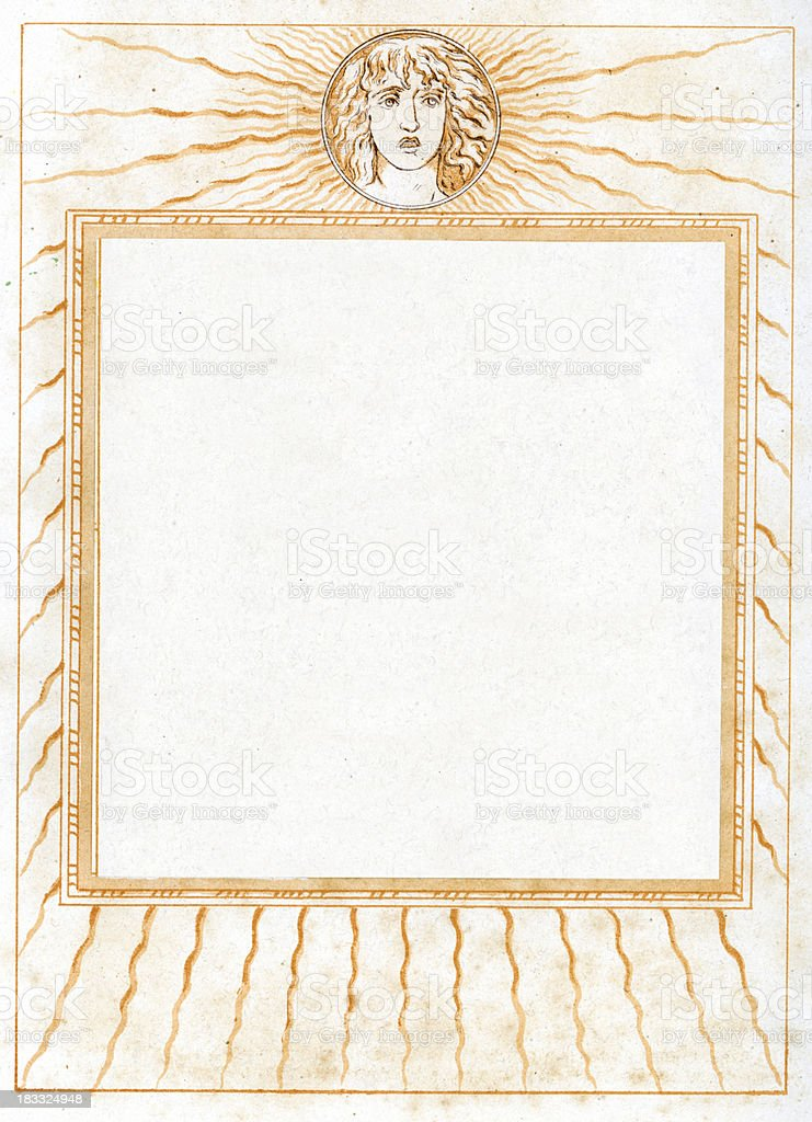 Ornate Neo Classical Border Picture Frame vector art illustration