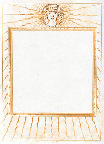 Ornate Neo Classical Border Picture Frame vector art illustration