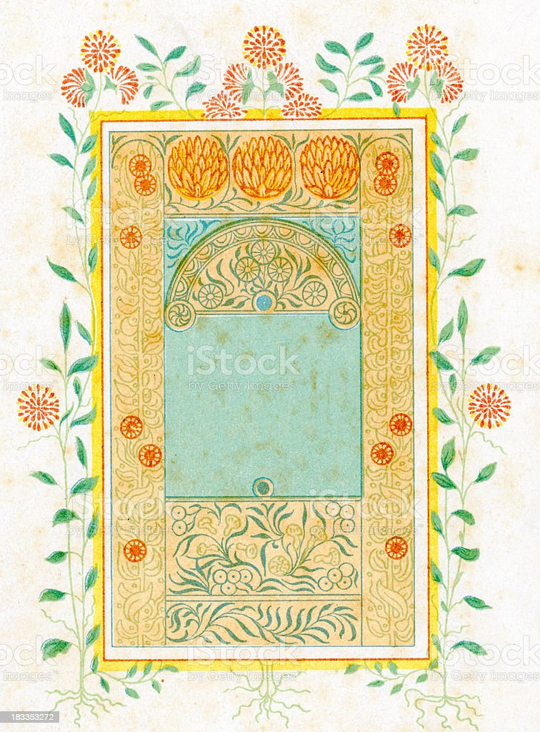 Ornate Neo Classical Border Picture Frame royalty-free stock vector art