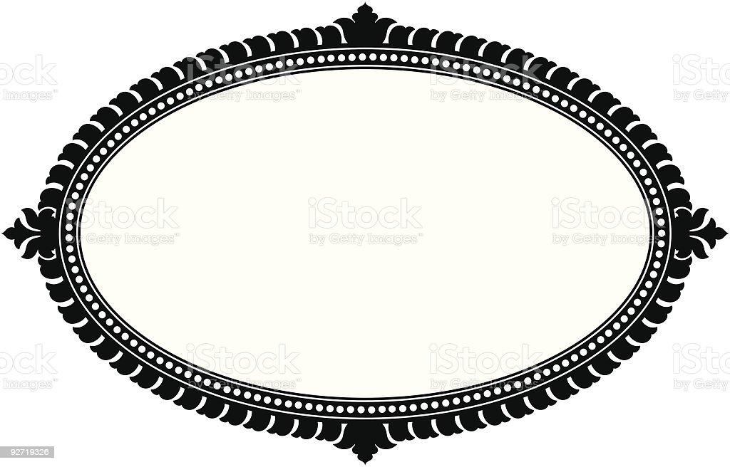 Ornate Oval Panel (vector) vector art illustration