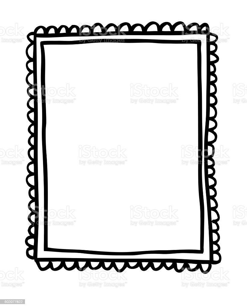 Ornate Picture Frame Illustration vector art illustration