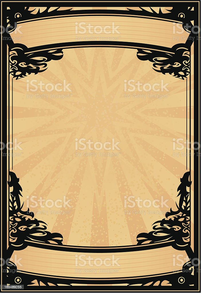 ornate rock poster royalty-free stock vector art