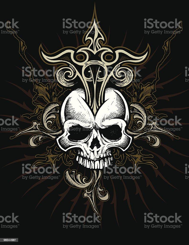 Ornate Skull Design royalty-free ornate skull design stock vector art & more images of art and craft