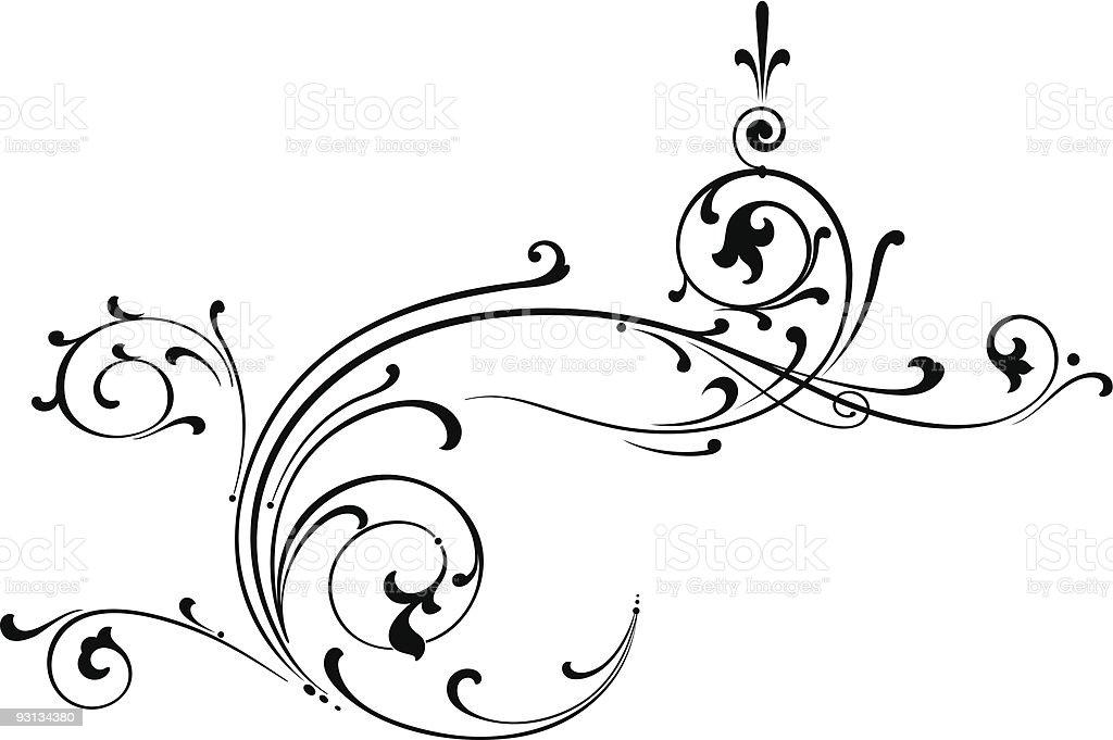 Ornate Vector Scroll royalty-free stock vector art