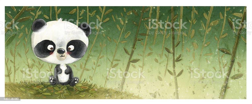 oso panda pequeño - ilustração de arte em vetor