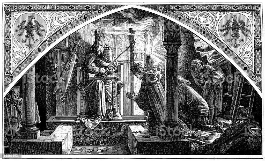 Otto and Charlemagne, by Alfred Rethel