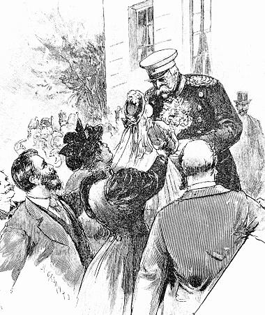 Otto von Bismarck getting best wishes at his birthday