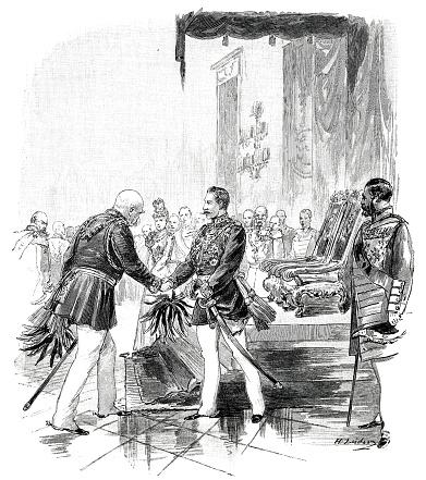 Otto von Bismarck greeting the German Kaiser on his birthday