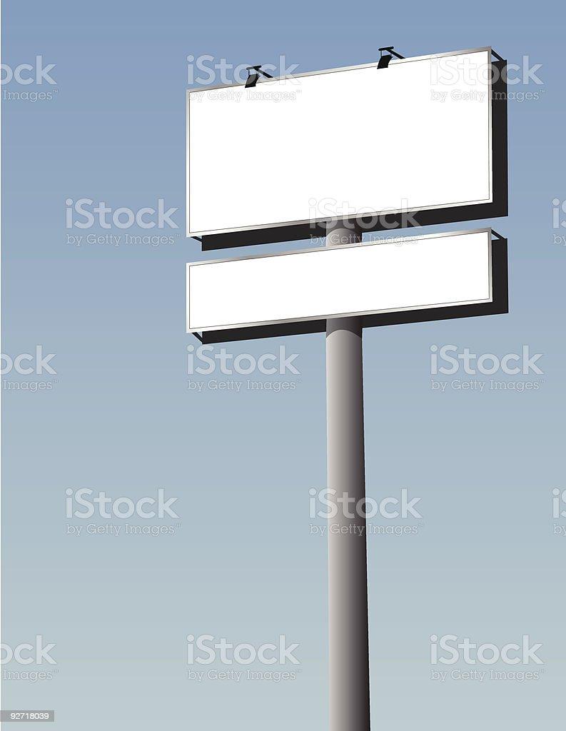 outdoor billboard royalty-free stock vector art