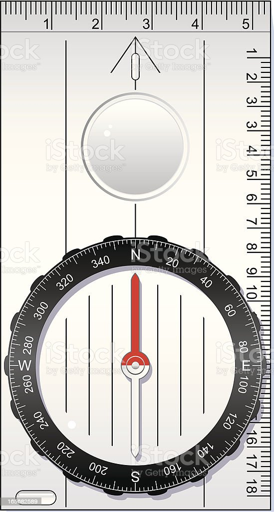 Outdoor compass royalty-free stock vector art