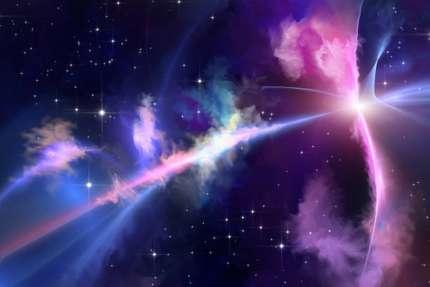 Outer space fantasy vector art illustration