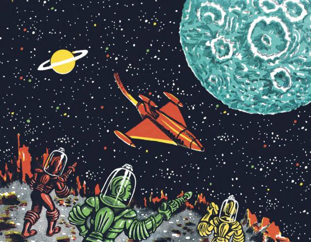 外のスペース - 宇宙探検点のイラスト素材/クリップアート素材/マンガ素材/アイコン素材