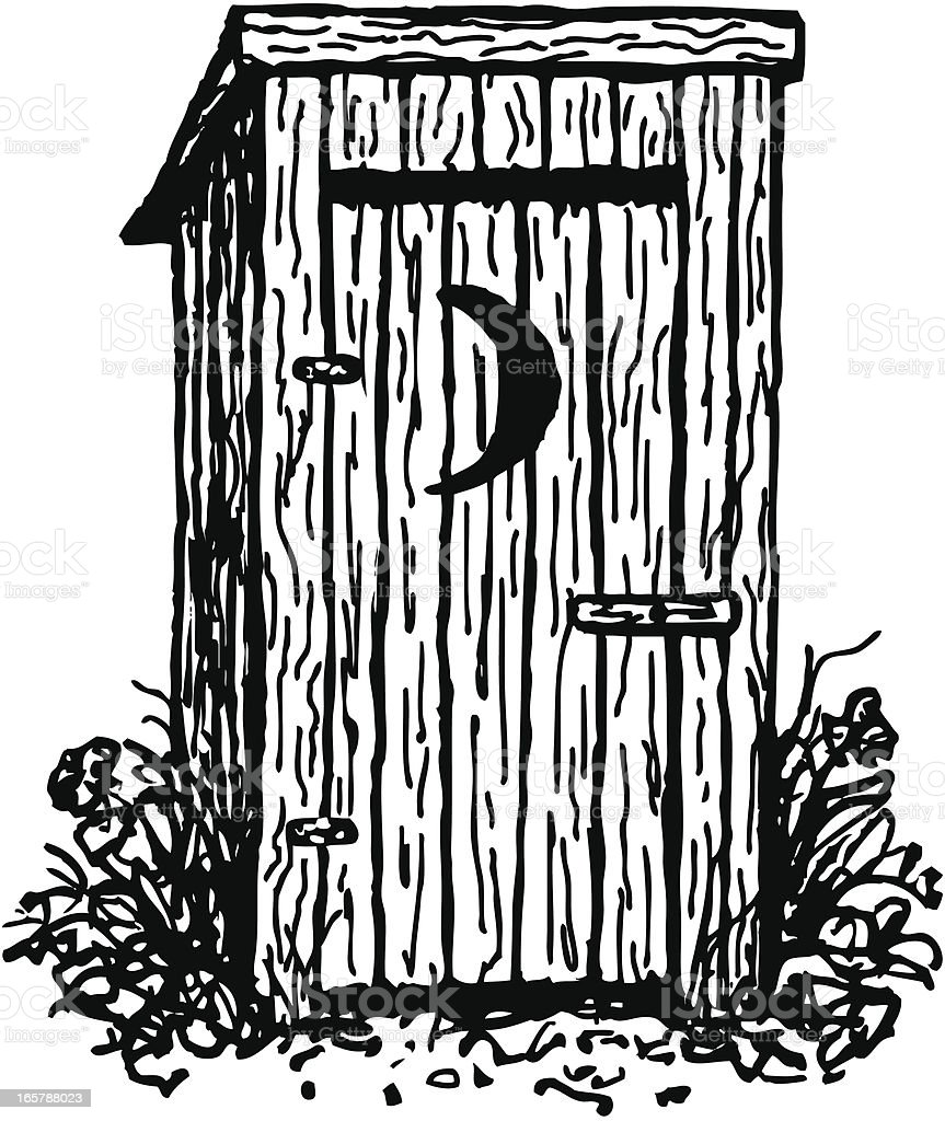 royalty free outhouse clip art vector images illustrations istock rh istockphoto com  cartoon outhouse clipart