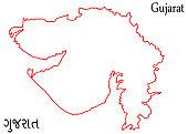 istock outline map of Gujarat Illustration Silhouette Design 850680018