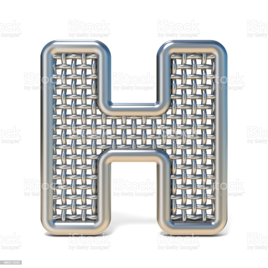 Outlined Metal Wire Mesh Font Letter H 3d stock vector art 680312330 ...