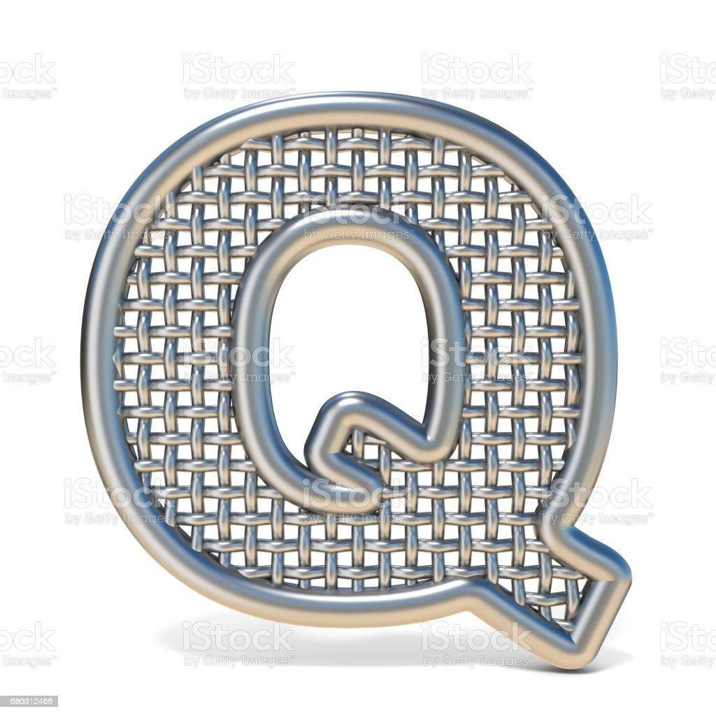 Skizzierten Metalldraht Netz Schrift Buchstaben Q 3d Stock Vektor ...
