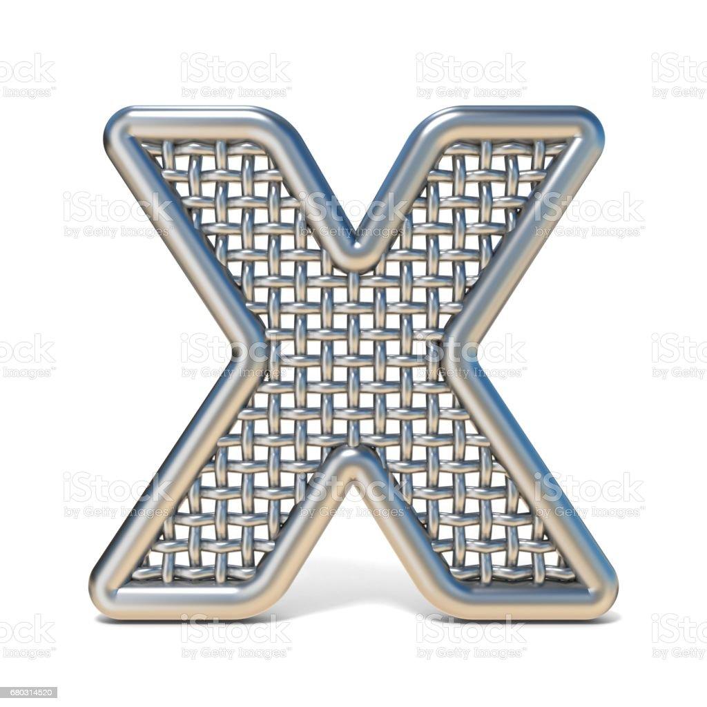 Skizzierten Metalldraht Netz Schriftart Letter X 3d Vektor ...