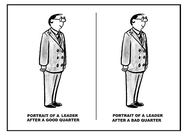 outstanding leader - old man funny pictures stock illustrations