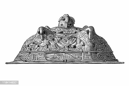 Illustration of a Oval buckle for woman