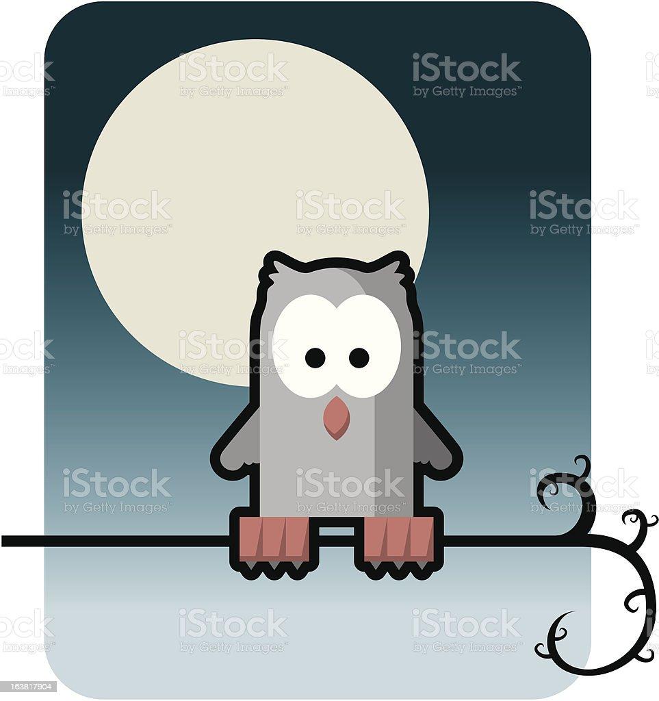 Chouette au clair de lune royalty-free stock vector art