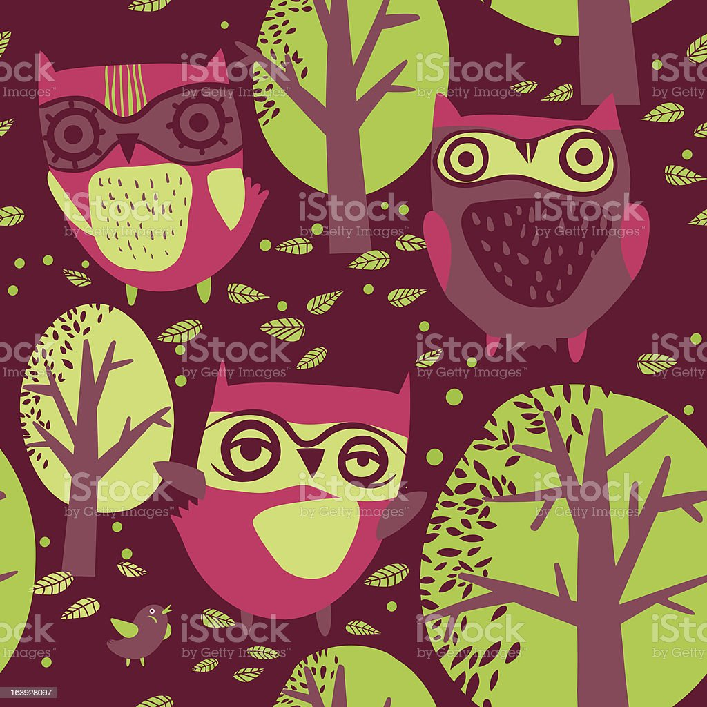 owl pattern royalty-free owl pattern stock vector art & more images of animal