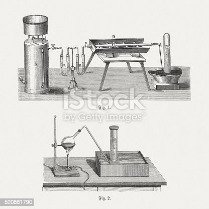 istock Oxygen, wood engravings, published in 1880 520881790