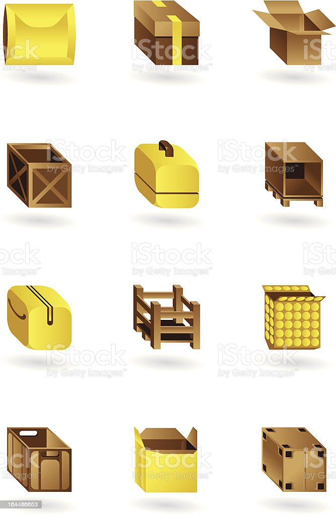 Package icons set royalty-free package icons set stock vector art & more images of box - container
