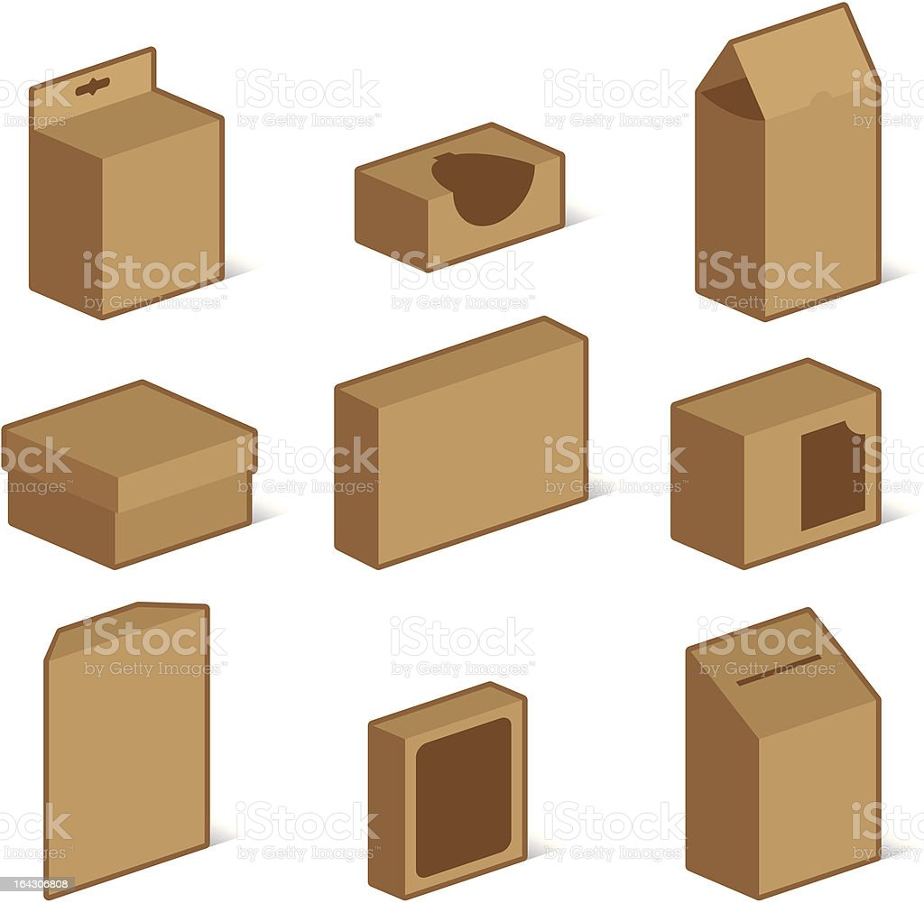 Packaging - Box Icons royalty-free packaging box icons stock vector art & more images of ballot box