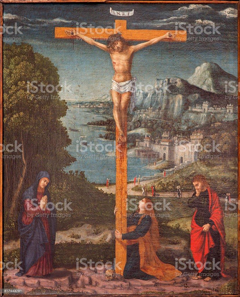 Padua - The Paint of Crucifixion vector art illustration