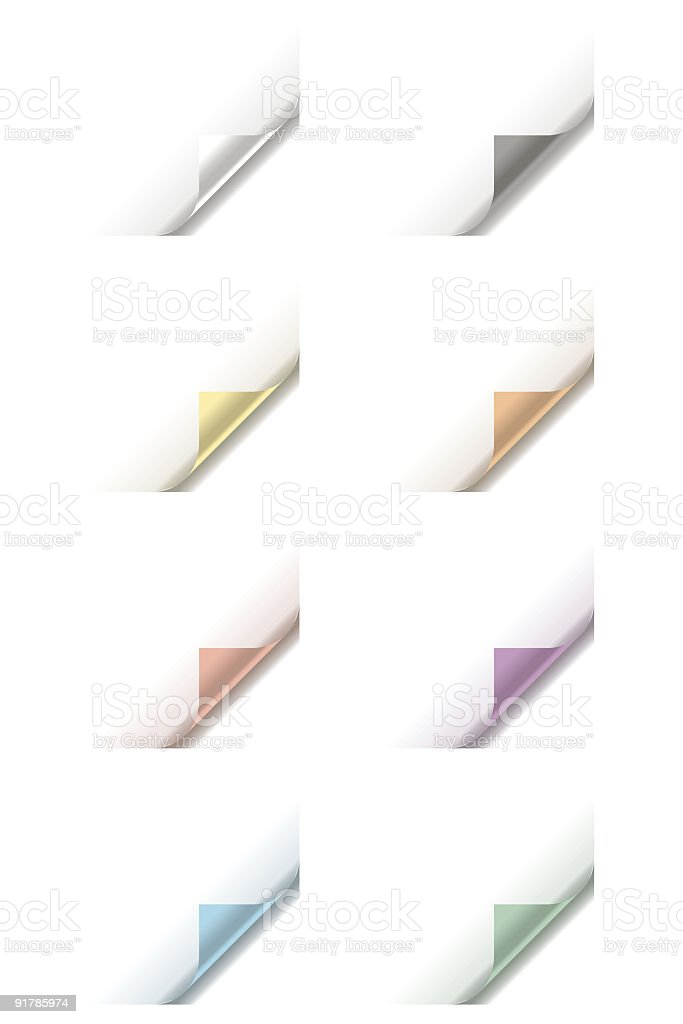 Page Curl royalty-free stock vector art